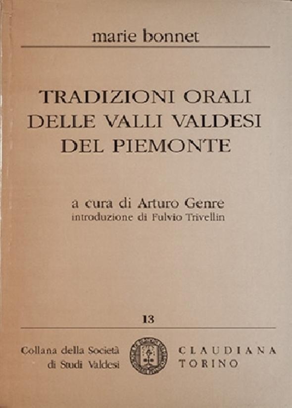 Marie Bonnet, Tradizioni orali delle Valli valdesi del Piemonte