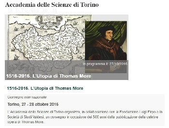 1516-2016. L'Utopia di Thomas More