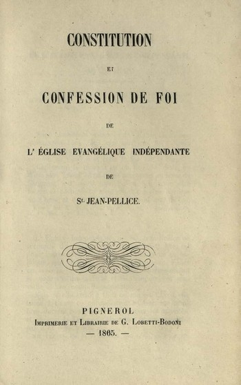 Constitution et confession de foi de l'Eglise évangélique<br />indépendante