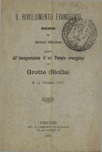 Il rivolgimento evangelico, A. Muston