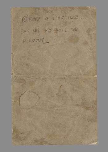 Réponse a l'article qui a paru dans le fédéral du 21 mai 1844, A. E. P.